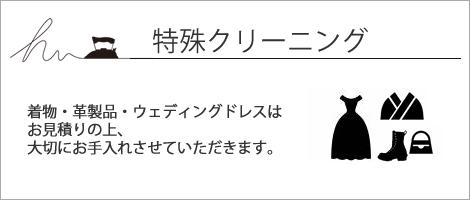 特殊クリーニング(着物・革製品・ドレス)